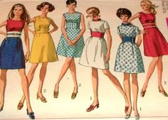 Sewing Pattern Vintage 60s  Mod Mini Go Go by hookandneedlepattern, $12.60
