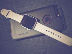 Apple &paired with @spigenworld #myfavoritethings #apple #applewatchceramic #matteblack #ceramicwhite #applewatch #smartphonephotography #applewatchedition #spigen #triplethreat