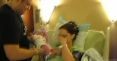 Dad Hands Mom Newborn Girl. But Watch What's Written on Her Onesie. I'm in Tears!
