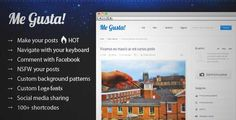 Download and review of Me Gusta! User-driven Content Sharing Theme, one of the best Themeforest Magazine & Blogs themes
