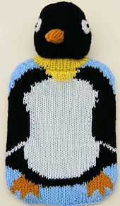 Ravelry: Penguin hot-water bottle cover pattern by Linda Moorhouse