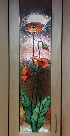 Stained Glass Flowers, Faux Stained Glass, Stained Glass Panels, Leaded Glass, Stained Glass Patterns Free, Stained Glass Designs, Stained Glass Projects, Window Art, Window Glass