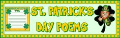 This is a 5 page banner that is used for a St. Patrick's Day poetry bulletin board display.
