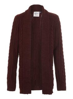 8b9973bbd502 Another fall musthave and summer has just started... Burgundy drape cardigan  from Topman