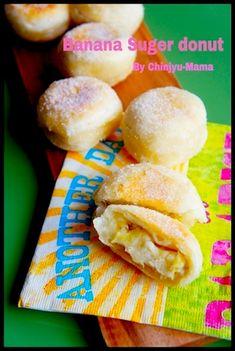 [捏ねない!発酵なし!]とろ〜りバナナのシュガードーナツ - 珍獣ママのフライパンひとつでできる♪簡単おかず レシピブログ -料理ブログのレシピ満載!