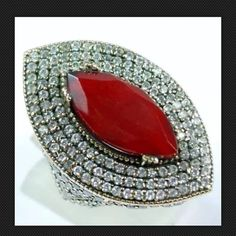 Quality Turkish Ruby Topaz 925K Sterling Silver High Quality Turkish Ruby Topaz 925K Sterling Silver Ring Size 8 Handmade Jewelry Rings