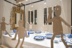 "Hermès/Culdesac creating: ""Gepetto, artisan who creates Pinocchio"", wooden marionettes, pinned by Ton van der Veer Hermes Window, Floating Balloons, Decorated Flower Pots, Retail Windows, Kids Zone, Visual Display, Window Dressings, Cafe Interior, Dezeen"