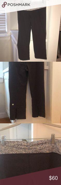 Lululemon cropped yoga pants - size 6 EUC. Charcoal grey cropped yoga pants worn twice. lululemon athletica Pants Ankle & Cropped
