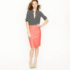 The perfect brightly colored pencil skirt... 9 different colors and a petite fit option!