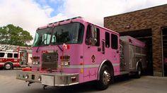 pink fire truck!!! <3