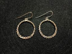 Braided Gold Fill and Sterling Silver Hoops