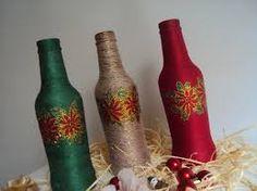 Resultado de imagen para botellas decoradas con mecate