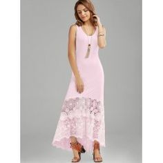 twinkledeals Cheap Maxi Dresses, Summer Dresses, Formal Dresses, Types Of Dresses, Dresses For Work, Scalloped Lace, Tank Dress, Sheath Dress, White Dress