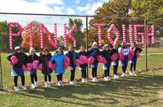 Pink Game Decorations - for breast cancer awareness