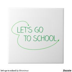 let's go to school small square tile