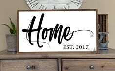 Home established sign | Home painted wood sign | Farmhouse Decor | Above the couch sign | Free shipping to US | home wall decor