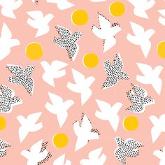 150905 Flock | Pink Quilter's Cotton from Glint by Lorena Siminovich for Cloud9 Fabrics