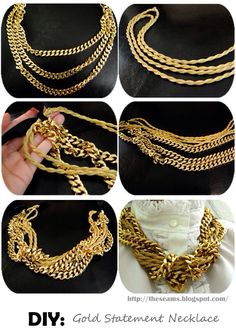 Twist gold necklace