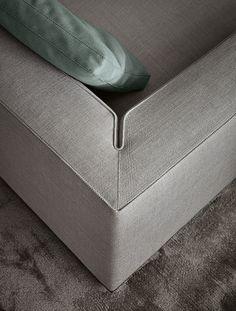 Details we like / Couch / Fabric / Gray / Corner stitch / Sofa / at leManoosh