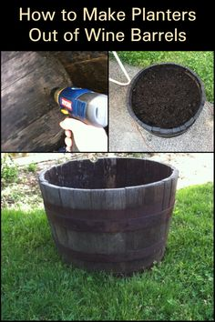 If you have limited gardening space and some old wine barrels around the yard, this DIY wine barrel planter project is for you. This DIY wine barrel planter suggests an old rustic look that certainly adds to its creative charm. Click on the article to learn how to make your own wine barrel planter now. Make Your Own Wine, Make It Yourself, Wine Barrel Planter, Wine Barrels, Recycling Ideas, Garden Spaces, Planters, Yard, Gardening