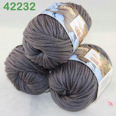 РАСПРОДАЖА Лот из 3 ballsx 50gr толстые хлопок ручной вязания пряжи гладкие специальные мягкие 32