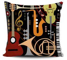 Almofada Instrumentos Musicais Vintage