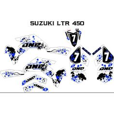 Suzuki LTR 450 atv graphics kit. Kit by Fireblade Graphics and Signs. Like us on Facebook to see all our kits and to purchase them from our Facebook store.