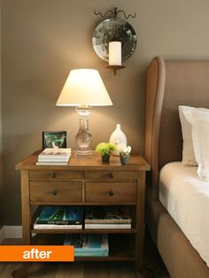 an orderly bedside table without 30 books piled on top? I hardly know what to do.