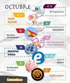 ¡Ya ha llegado octubre! El mes del terror viene cargado de eventos y oportunidades de marketing.