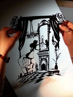 Through The Looking Glass - Original Papercut by PaperPandaCuts on DeviantArt