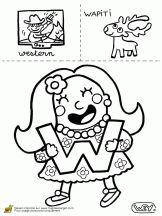 lettre w western wapiti