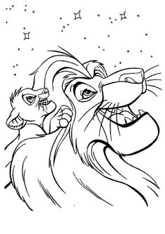 Coloring Pages Lion King 1 from Cartoon Lion King Coloring Pages for Kids. Coloring The Lion King is excellent leisure time for a child who loves an animated masterpiece by Walt Disney Studio. Here you will find coloring pict. Lion Coloring Pages, Family Coloring Pages, Online Coloring Pages, Cartoon Coloring Pages, Disney Coloring Pages, Mandala Coloring Pages, Kids Coloring, Coloring Sheets, Free Coloring