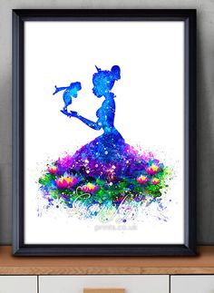 Disney Tiana The Princess and the Frog Watercolor by GenefyPrints