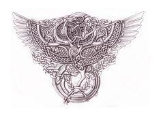 Celtic Phoenix Shaded by Feivelyn on DeviantArt Irish Tattoos, Celtic Tattoos, Viking Tattoos, Art Viking, Viking Symbols, Celtic Crafts, Celtic Art, Time Tattoos, Body Art Tattoos