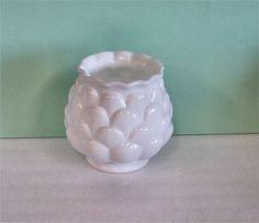 Fenton Milk Glass Pansy Vase