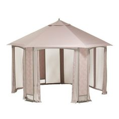 Sears Oakbrook Hexagon Gazebo Replacement Canopy and Netting by Garden Winds. $199.99. IMPORTANT NOTE: This product is available in a beige colored fabric only. The metal gazebo structure in picture not included.. Garden Winds recommends that you purchase this replacement canopy and netting set only if you have this particular gazebo. This canopy and netting set will not fit any other gazebo.. This replacement canopy and netting set is custom designed for the Sears Oakbrook He...