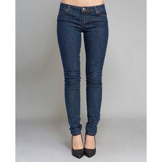 Neckar Far East Ltd  Blue Asphalt Fashionista Skinny Jeans (€27) ❤ liked on Polyvore featuring jeans, dk wash, wet seal, wet seal jeans, 5 pocket jeans, skinny leg jeans, super stretch jeans and stretch jeans