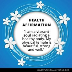 I am a vibrant soul. My body is my temple and  it is a beautiful, strong and well one. #health #healthaffirmation http://paleoaholic.com/