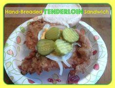 Hand-Breaded Tenderloin Sandwich by Love Bakes Good Cakes