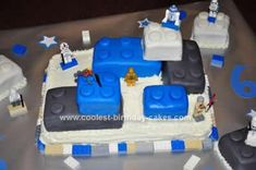 Homemade Lego Star Wars Birthday Cake: I made this Lego Star Wars Birthday Cake for my son's golden 6th Birthday. He turned 6 on the 6th of January! He LOVES Lego Star Wars right now, so I knew