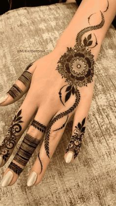 Pretty Henna Designs, Modern Henna Designs, Latest Henna Designs, Floral Henna Designs, Finger Henna Designs, Henna Tattoo Designs Simple, Back Hand Mehndi Designs, Modern Mehndi Designs, Henna Art Designs