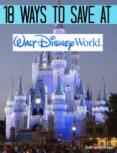 18 Ways to Save at Disney World (and 4 Freebies!) via @Isra De De De De De De De {The Frugalette}