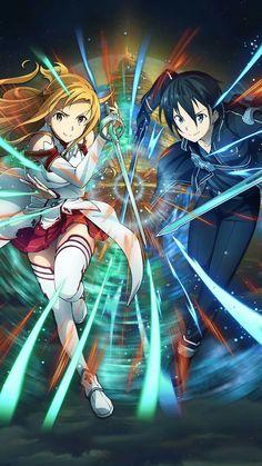 Kirito x Asuna~Sword Art Online Schwertkunst Online, Arte Online, Online Anime, Sword Art Online Asuna, Sao Anime, Manga Anime, Manga Girl, Anime Girls, Sword Art Online Wallpaper