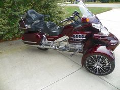 Sturgis Trike Conversion kit for Honda and (Valkyrie) Reverse Trike, Trike Motorcycle, Sidecar, Custom Bikes, Scooters, Cars And Motorcycles, Motorbikes, Cool Cars, Motors