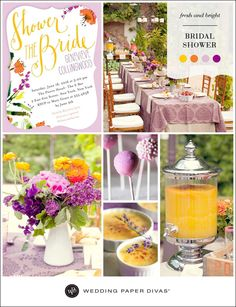 Fresh and Bright Bridal Shower Inspiration Board