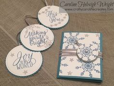 Video tutorial to handmake your own Gift Tag set using Tin of Tags and Stitched Shape Framelits from Stampin' Up