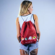 Red Bag Shops, Red Bags, Drawstring Backpack, Backpacks, Detail, Shopping, Style, Fashion, Nice Asses