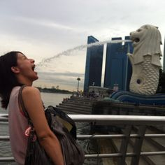 Having fun with Merlion! An unforgettable experience!