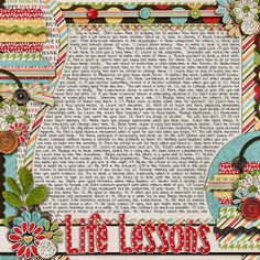 great way to show that the story/journalling doesn't have to be in a rectangular block. Scrapbook Kit, Scrapbook Layouts, Scrapbook Pages, Family Rules, Journalling, Journal Inspiration, Scrapbooks, Spreads, Digital Scrapbooking