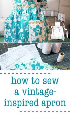 How to Sew Your Own Vintage-Inspired Apron | Martha Stewart Living - We all know how expensive storebought aprons are, but did you know how easy they are to make? Sewing your own one-of-a-kind apron not only makes a practical, personalized accessory for yourself (you can match it to your kitchen colors), but they also make a fabulous gift for any home cook.